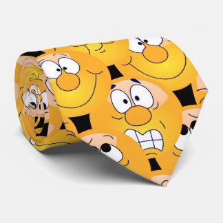 Emoji Design Funny Yellow Faces Tie