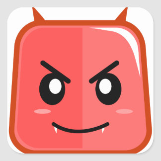 Emoji Devil Red Angry Faced Sticker