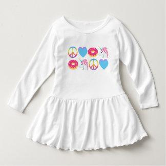 Emoji Dress - Peace, Love, Donuts, and Unicorns