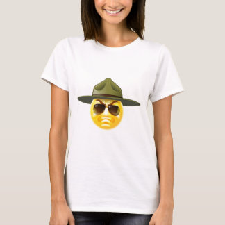 Emoji Emoticon Drill Sergeant T-Shirt