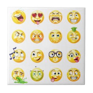 Emoji Emoticon Set Small Square Tile
