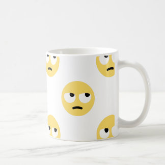 emoji eye rolling coffee mug