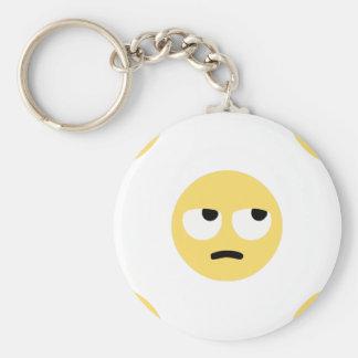 emoji eye rolling key ring