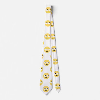 emoji eye rolling menswear mens necktie neck tie