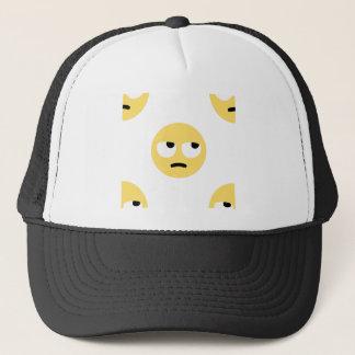 emoji eye rolling trucker hat