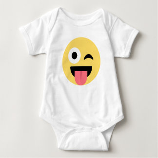 EMOJI FACE SMILEY BABY BODYSUIT