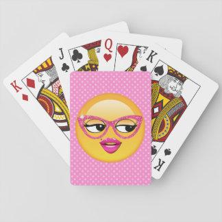 Emoji Flirty Girl ID227 Poker Deck