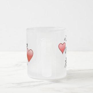 Emoji Frosted Glass Coffee Mug
