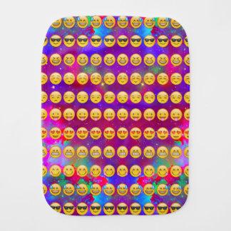 Emoji Fun In Space Burp Cloth