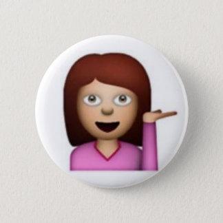Emoji Girl 6 Cm Round Badge