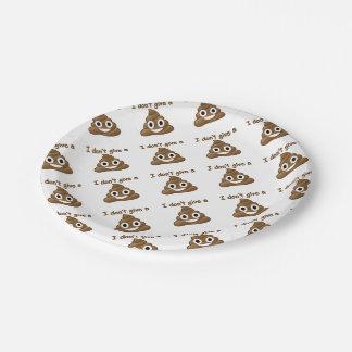 Emoji Give A Poo 7 Inch Paper Plate
