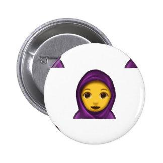 emoji hajib 6 cm round badge