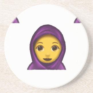 emoji hajib coaster