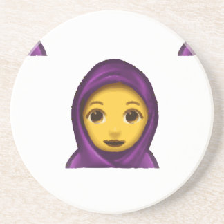 emoji hajib drink coaster