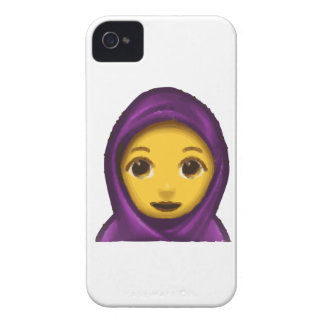 emoji hajib iPhone 4 Case-Mate case