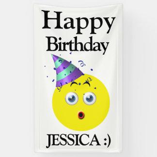 Emoji Happy Birthday Surprise Banner