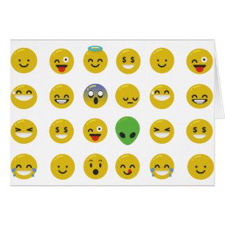 Emoji happy face card