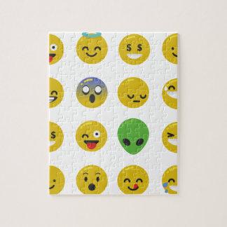 Emoji happy face jigsaw puzzle