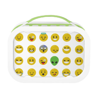 Emoji happy face lunchbox lunch box