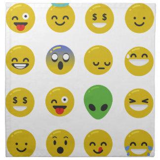 Emoji happy face napkin