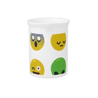 Emoji happy face pitcher