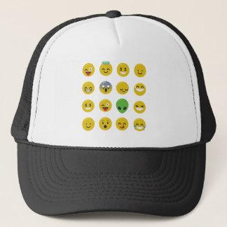 Emoji happy face trucker hat