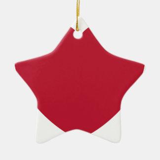 Emoji Heart Coils Ceramic Ornament