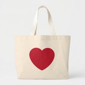 Emoji Heart Coils Large Tote Bag