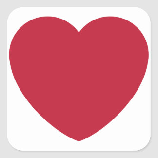 Emoji Heart Coils Square Sticker