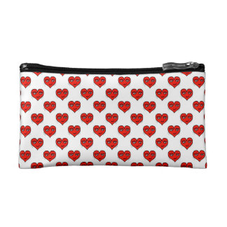 Emoji Heart Shape Drawing Pattern Cosmetic Bag
