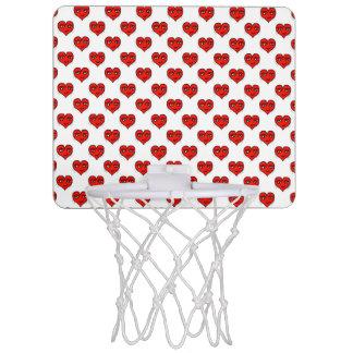 Emoji Heart Shape Drawing Pattern Mini Basketball Hoop