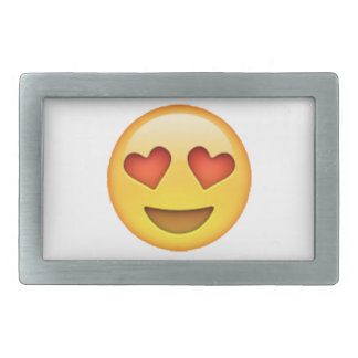 Emoji - Heart-Shaped Eyes Rectangular Belt Buckles