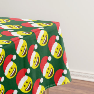 Emoji Jolly Santa Claus Table Cloth