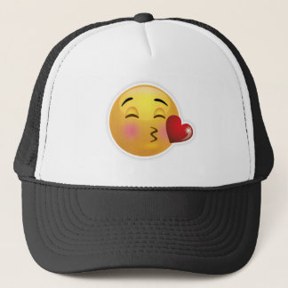 emoji-kiss-face trucker hat