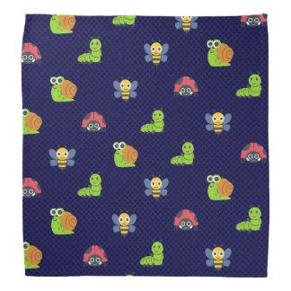 emoji lady bug caterpillar snail bee polka dots bandana
