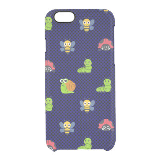 emoji lady bug caterpillar snail bee polka dots clear iPhone 6/6S case