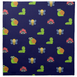 emoji lady bug caterpillar snail bee polka dots napkin