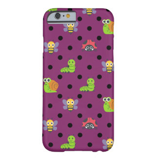 Emoji lady bug snail bee caterpillar polka dots barely there iPhone 6 case