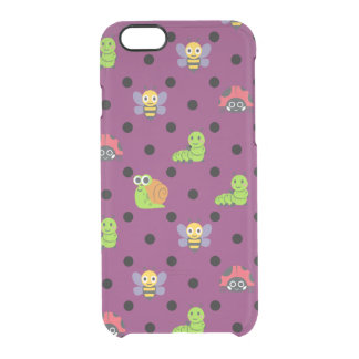 Emoji lady bug snail bee caterpillar polka dots clear iPhone 6/6S case