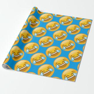 Emoji Laughing Wrapping Paper
