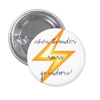 Emoji Lightning Safety 3 Cm Round Badge