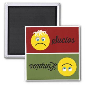 Emoji Limpios Sucios Spanish Dishwasher Magnet