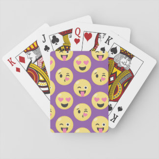 Emoji Love Pattern Playing Cards