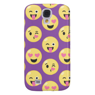 Emoji Love Pattern Samsung Galaxy S4 Cover