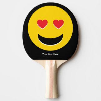 Emoji Love Ping Pong Paddle