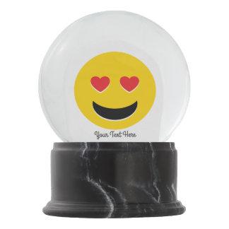 Emoji Love Snow Globe