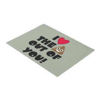 Emoji Love You Doormat