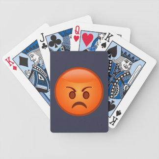 Emoji Mad Face Bicycle Playing Cards
