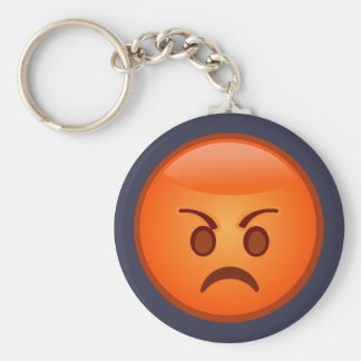 Emoji Mad Face Key Ring