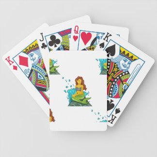 emoji mermaid bicycle playing cards